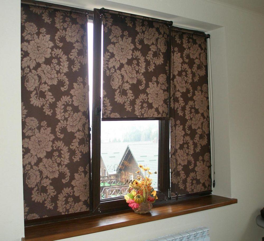 Жалюзи из ткани на окно